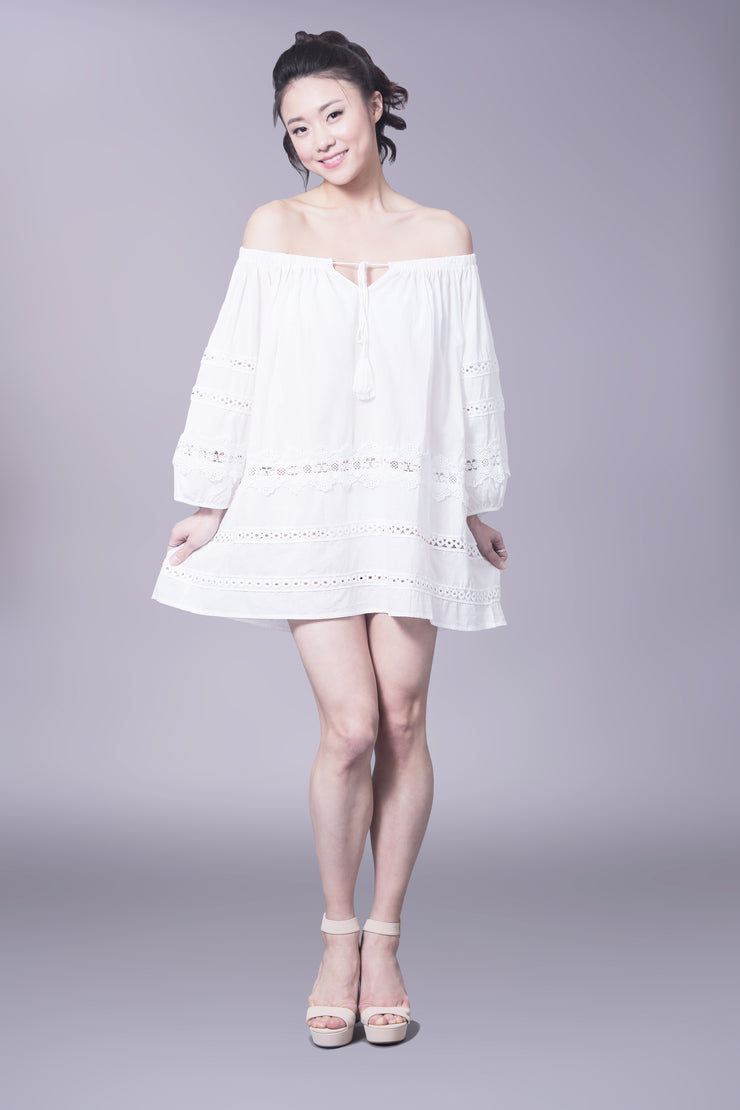 Cotton lace cover up