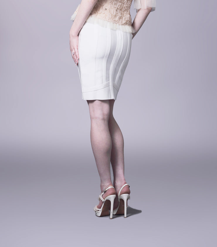 Bandage knee length pencil skirt