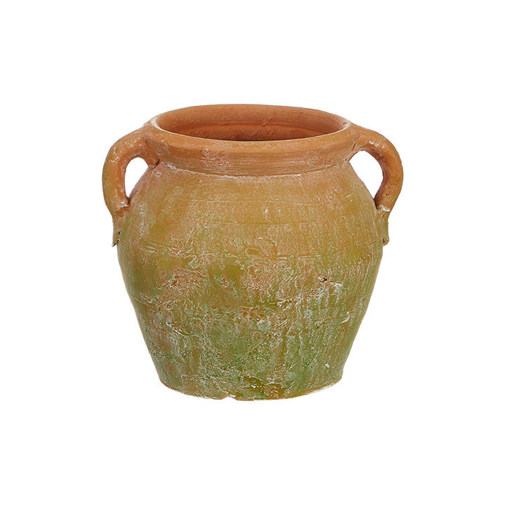 "7.5"" Mossy Terracotta Pot"