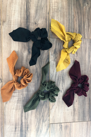 Fallen Leaves Scrunchies