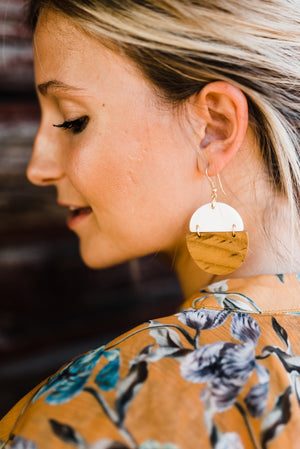Dipped Wood Earrings