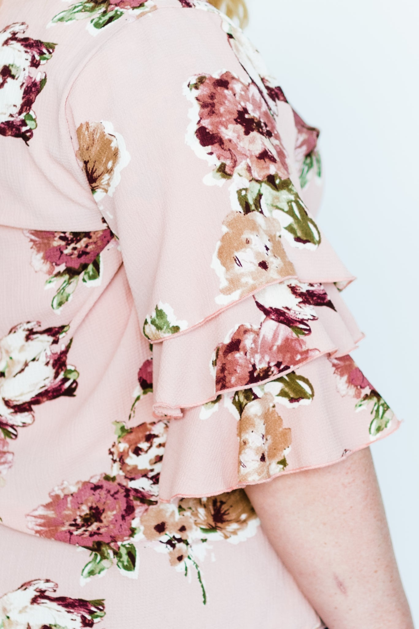 Butchart Floral Tiered Sleeve Top