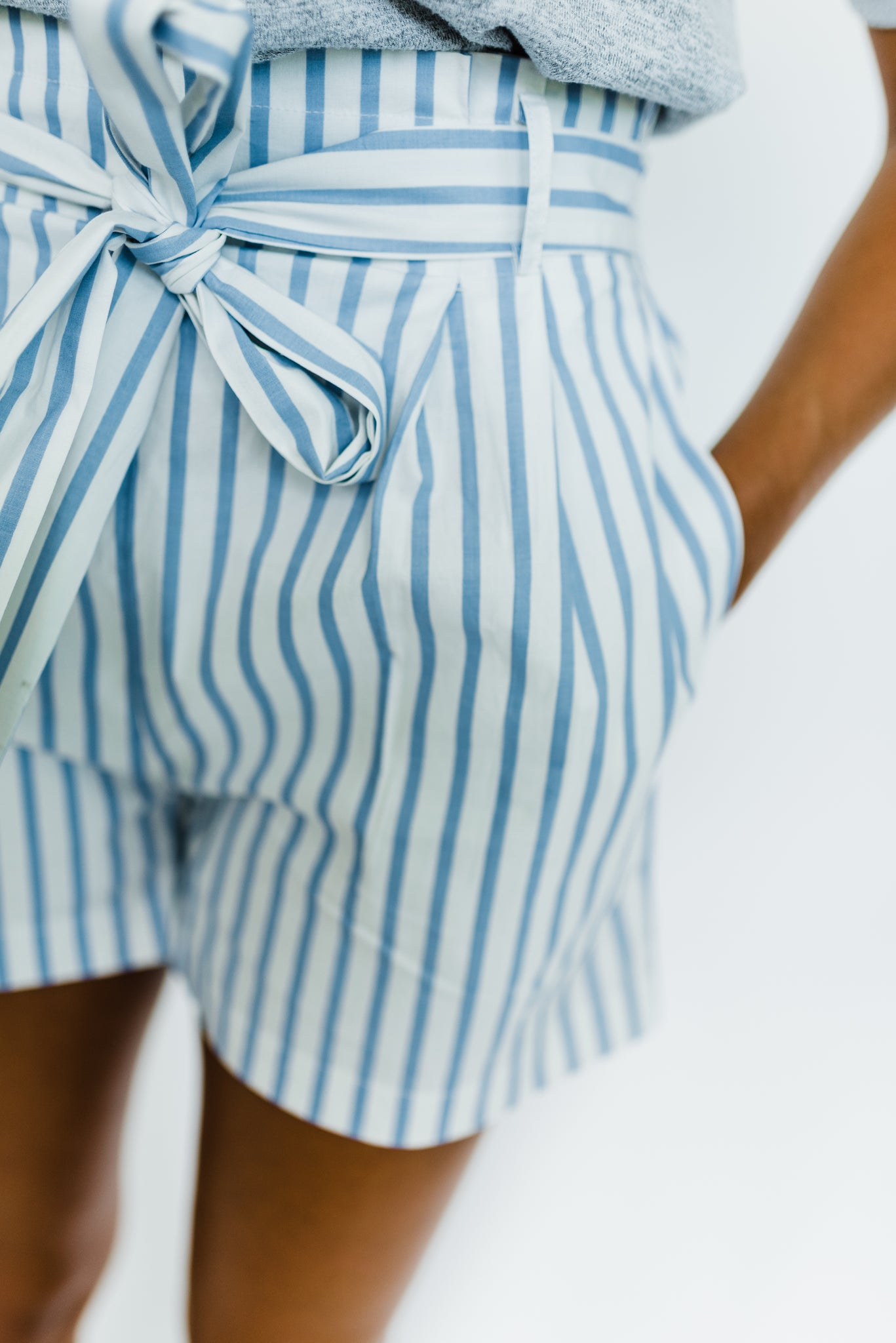 Candy Stripe Bow Shorts