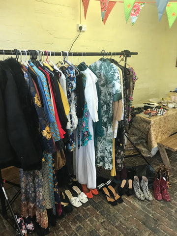 stylist wardrobe on set for Soru Jewellery photoshoot