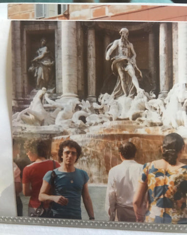 Rome fountain of Trevi 1970, old photo, coin collection blog, treasure, roman
