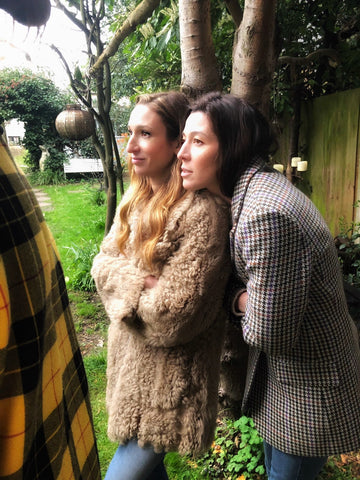 Founders of Soru Jewellery Francesca Kelly and Marianna Doyle behind the scenes of the summer campaign photo shoot