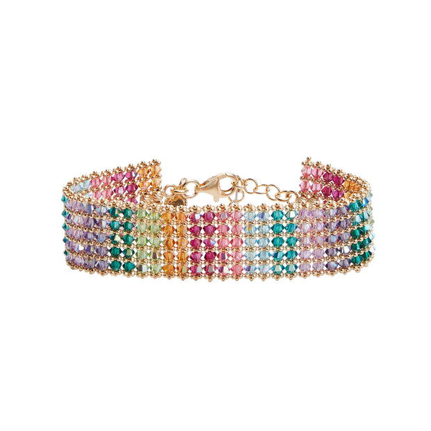 the fashion bug blog x soru holly bracelet, rainbow gold bracelet