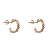 gold mondello mini hoop earrings, gold soru hoops, gold huggies