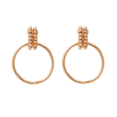 SORU JEWELLERY MILANO GOLD HOOP EARRINGS