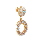 soru jewellery gold pearl earrings