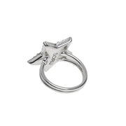 soru jewellery silver crystal star ring, celestial