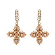 soru jewellery mini santina pearl cross earring