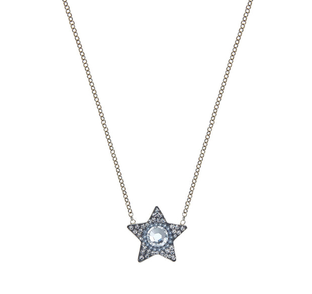 soru jewellery silver star necklace, crystal star, celestial necklace, pearl star