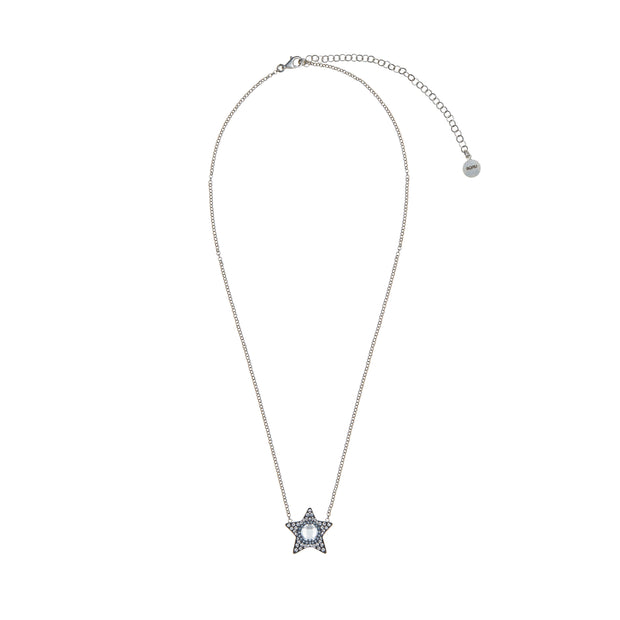 soru jewellery silver start crystal necklace, celestial
