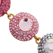the fashion bug blog x soru grace earrings, pink crystal soru earrings