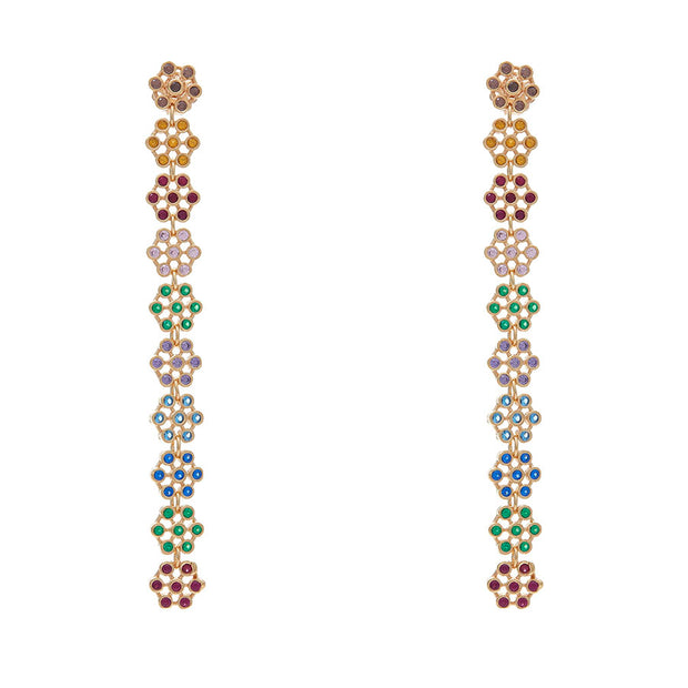 Soru jewellery multicolour crystal Rimini earrings