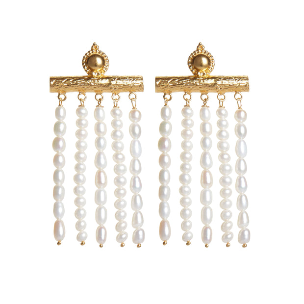 soru jewellery Juno baroque pearl earrings, treasures pearl earrings