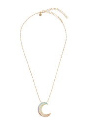 soru jewellery rainbow notte moon necklace