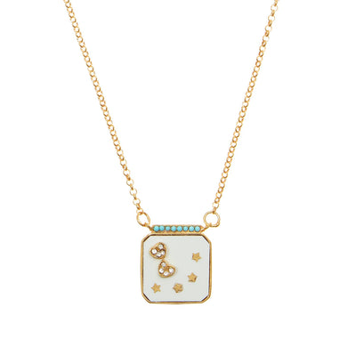 soru jewellery stat crystal necklace gold