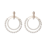 soru jewellery Valentina earrings, siciliana Swarovski pearl hoop