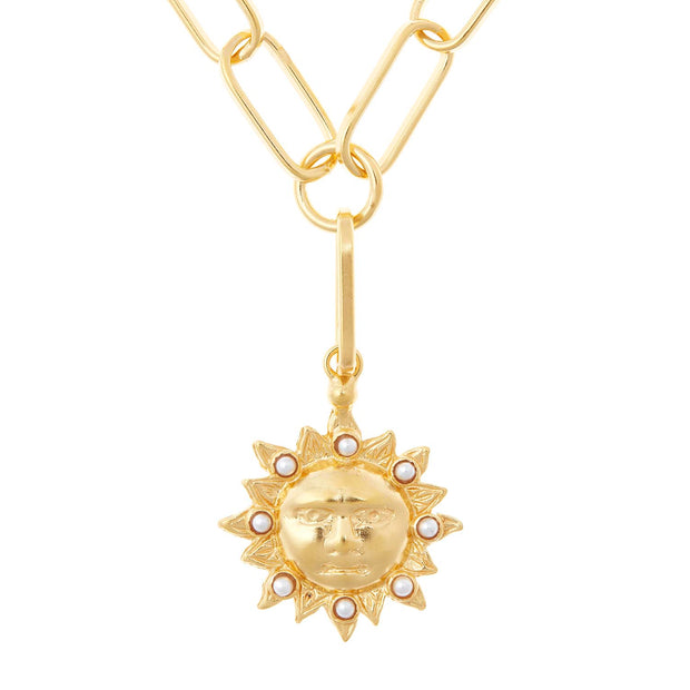 soru jewellery gold sun necklace