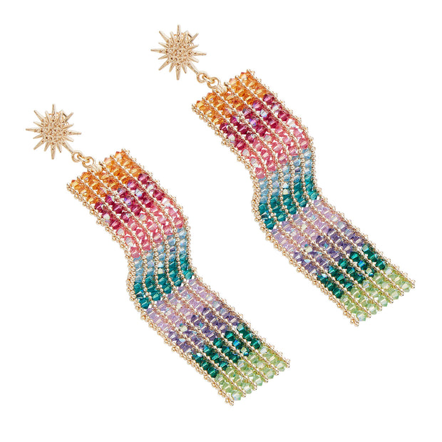 the fashion bug blog x soru anoushka earrings, soru rainbow gold earrings