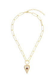 soru jewellery pearl heart necklace gold