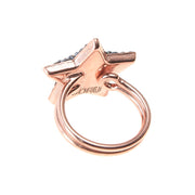 soru jewellery rose gold adjustable star ring