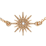 soru fine solid gold and diamond star bracelet