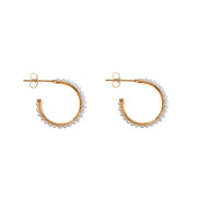 soru jewellery touring small hoop, huge gold and pearl earrings