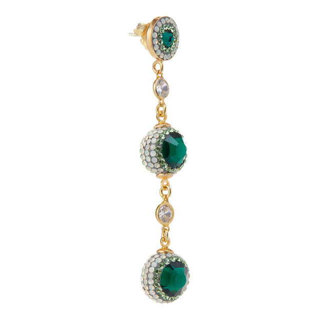 soru emerald green crystal earrings