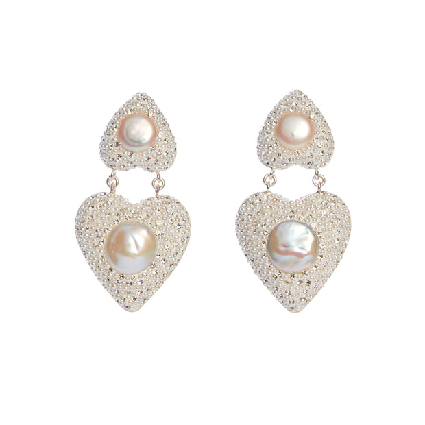 the fashion bug blog x soru coco heart earrings, pearl party heart earrings, soru pearl heart earrings