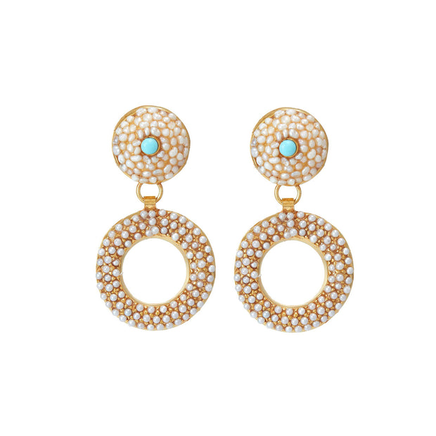 SORU JEWELLERY PEARL FLORANCE EARRINGS