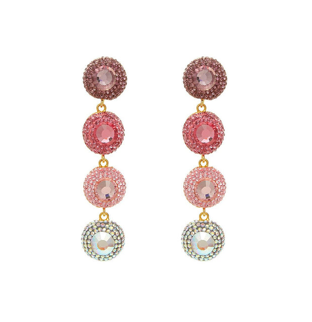 The Fashion Bug Blog X Soru pink ombre crystal linear drop earrings