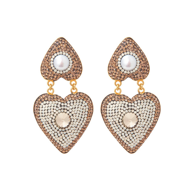 SORU JEWELLERY TOPAZ HEART EARRINGS