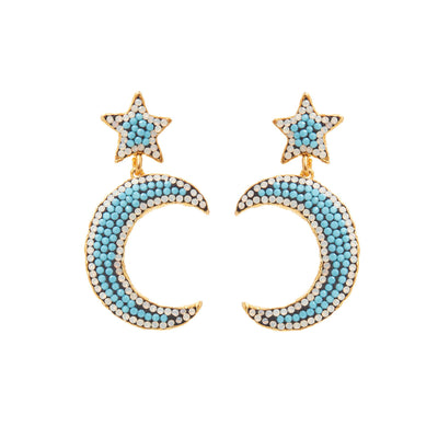 SORU JEWELLERY TURQUOISE NOTTE EARRINGS