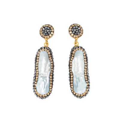 soru jewellery double sided pearl earrings