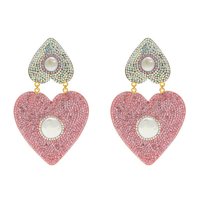 the fashion bug blog x soru mila crystal heart earrings, soru pink crystal heart earrings