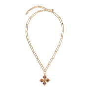 multicolour santina chain cross necklace