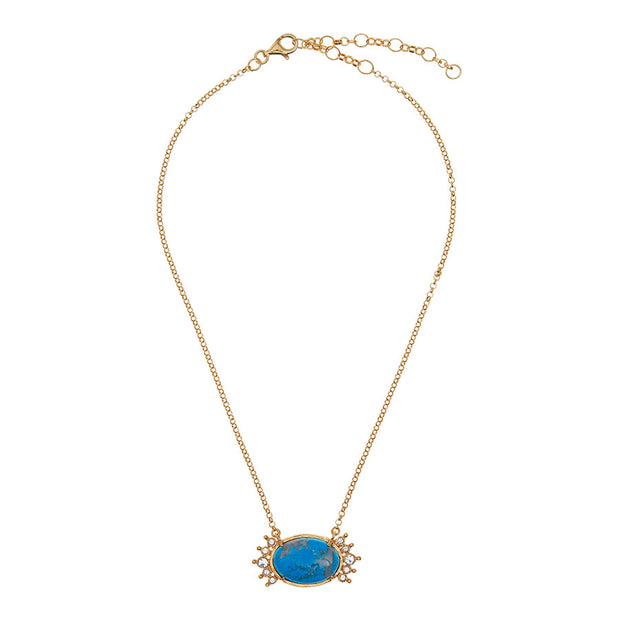 soru jewellery jove turquoise necklace gold