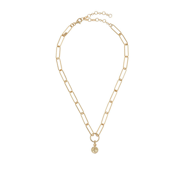 soru jewellery Taormina charm, gold charm necklace
