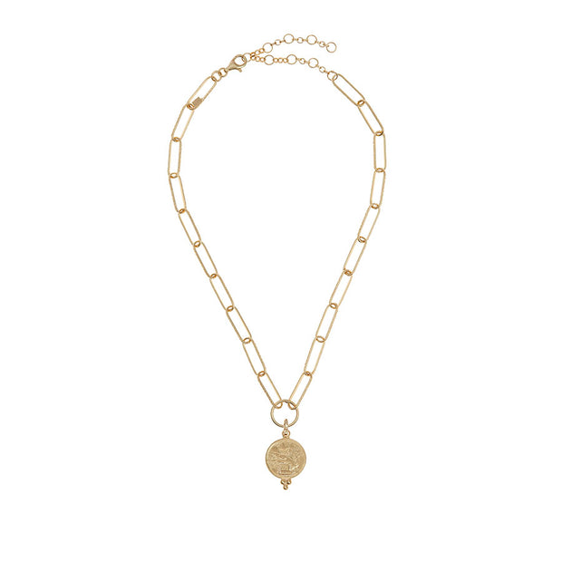 soru Agrigento charm, gold charm necklace