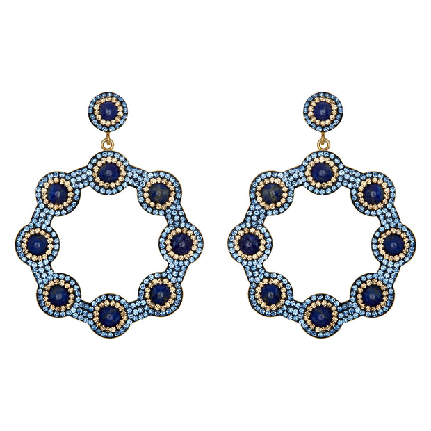 soru jewellery majolica hoop earrings