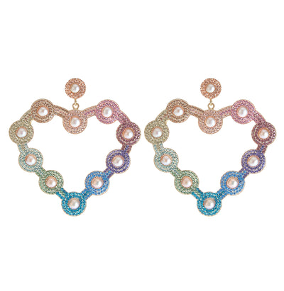 Soru Jewellery Rainbow crystal Love Heart earrings from the collaboration with The Fashion Bug Blog