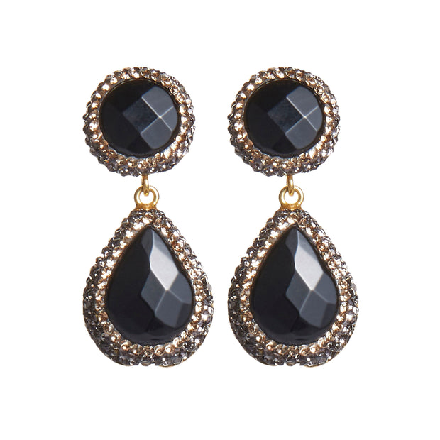 soru jewellery onyx earrings, soru black stone earrings