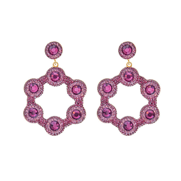 soru purple mini hoop earrings