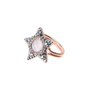 Soru jewellery bellatrix rose quartz and rose gold adjustable ring