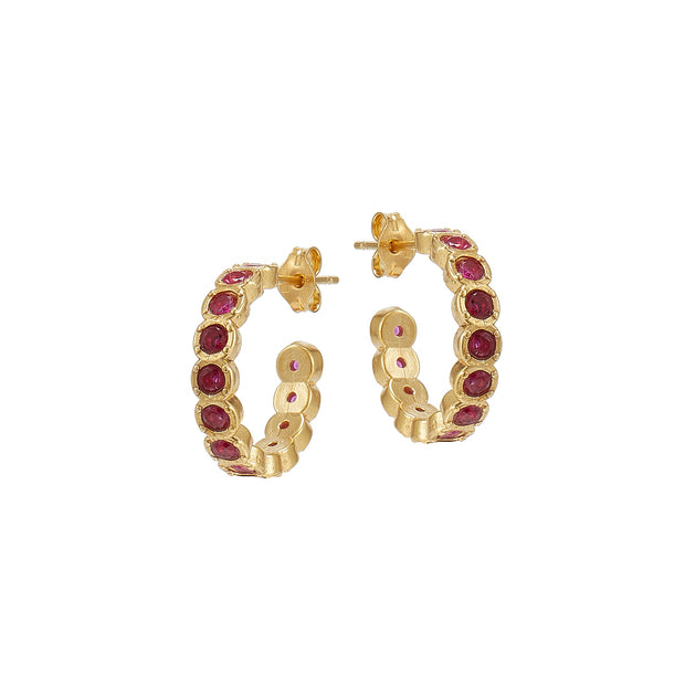 soru jewellery ruby red earrings
