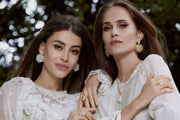 Soru jewellery campaign jewellery photoshoot marianna earrings, siciliana crystal earrings