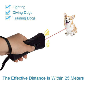 Ultrasonic Dog Chaser LED Pet Training Device